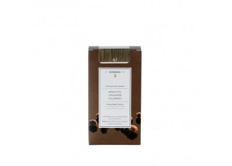 ΚΟΡΡΕΣ Βαφή Argan Oil Ash Dark Blonde 6.1