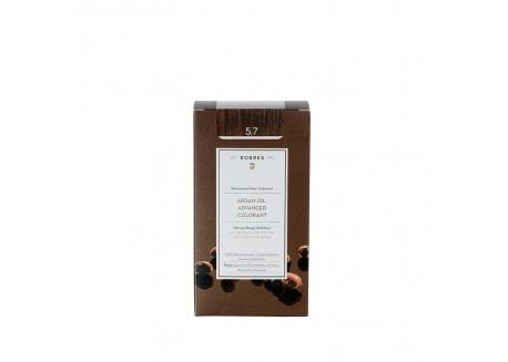 ΚΟΡΡΕΣ Βαφή Argan Oil Chocolate 5.7 (σοκολατί) 50ml