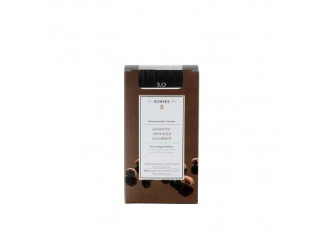 ΚΟΡΡΕΣ Βαφή Argan Oil Dark Brown 3.0 ( σκούρο καφέ)