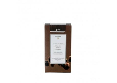 ΚΟΡΡΕΣ Βαφή Argan Oil Dark Chocolate 4.77 ( σκούρο σοκολατί)